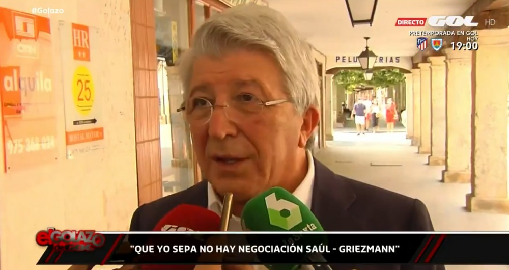 Cerezo said he knew nothing about the Saul-Griezmann swap. Screenshot/GOL