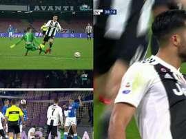 Tuvo de todo la primera parte del Nápoles-Juventus. Capturas/Vamos/Movistar