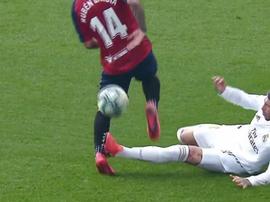 Le gros tacle de Ramos qui est passé inaperçu. Capture/Movistar