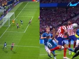 Savic répond à Matuidi et donne de l'espoir à l'Atlético. Capture/Movistar+