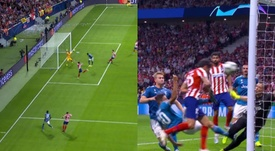 Entre Matuidi y Savic le dieron emoción al Atlético de Madrid-Juventus. Captura/Movistar+