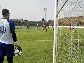 El Tenerife contó con uno de sus canteranos en su debut liguero. CDTenerife