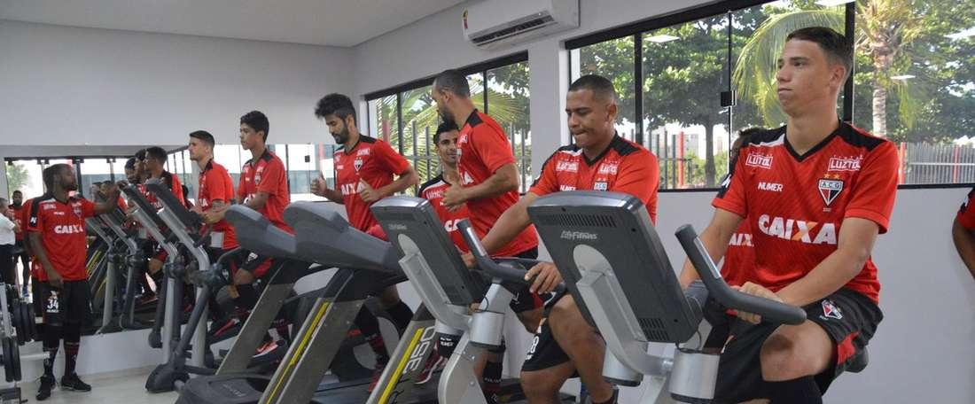 Entrenamiento del Atlético Goianiense. ACG