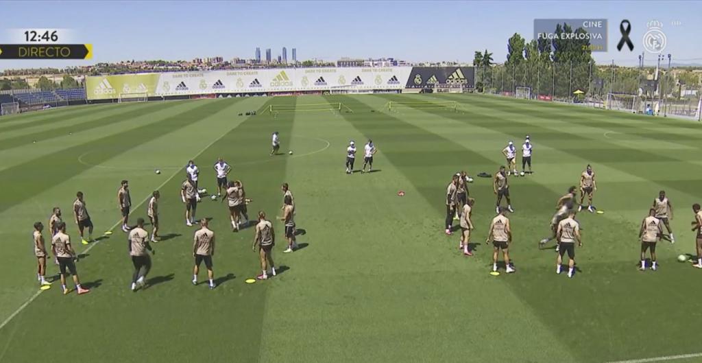 Hazard et Varane absents au dernier entraînement avant l'Athletic. Capture  RMTV