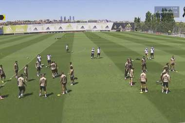 Varane and Hazard missed training. Screenshot/RMTV