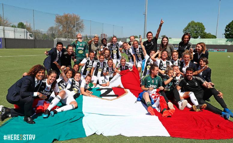 La Juventus Femenina también gana la Serie A. JuventusFCWomen