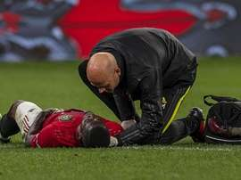 Eric Bailly once again suffers a serious injury. AFP