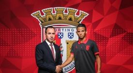 Ex-Náutico é reforço do Sporting de Braga. Twitter/SCB