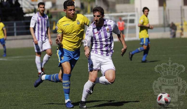 El Valladolid sumó tres puntos vitales. Twitter/UDLP_Oficial