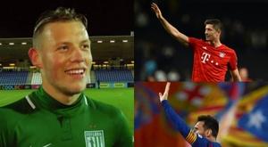 Erik Sorga se mêle à la lutte entre Messi et Lewandowski. Youtube/EFE/AFP