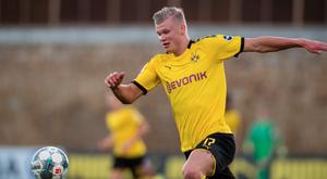 Haaland a fait ses débuts en amical avec Dortmund. BvB