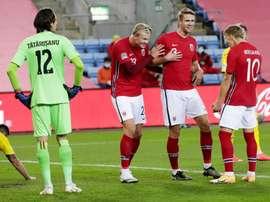 Haaland réagit au départ d'Odegaard à Arsenal. EFE