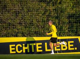 Nem a estreia de Haaland impediu a derrota do Borussia Dortmund. Twitter/BVB