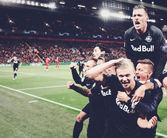 Klopp lowers Liverpool's interest in Haland. Twitter/Salzburg