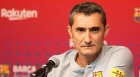 Valverde atendió a los medios. EFE