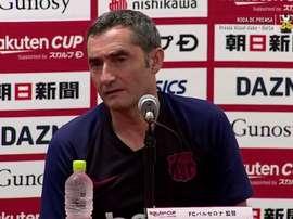 Expectativa de contratação foi citada em entrevista coletiva no Japão. Captura/FCBarcelona