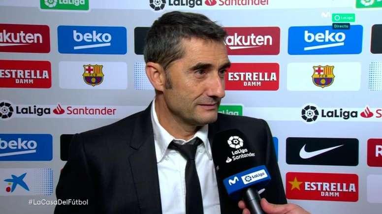 Valverde elogió a Messi y pidió paciencia con Griezmann. Captura/Movistar+