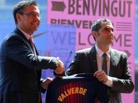 Josep Maria Bartomeu falou sobre o futuro de Ernesto Valverde. EFE