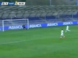 Luca Zidane cometió un nuevo error. Captura/RealMadrid TV