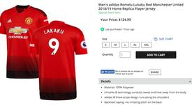 Le maillot de 'Lakaku' peut être acheté pour 125 dollars. ManchesterUnited