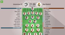 Unionistas e Real Madrid disputam vaga nas oitavas de final da Copa do Rei. BeSoccer