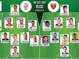 Les compos officielles du match qualificatif entre la Pologne et le Monténégro. BeSoccer