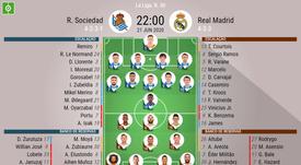 Escalações de Real Sociedad e Real Madrid. BeSoccer