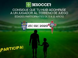 Consigue que tu hij@ acompañe a un jugador del Atlético Baleares ante el Racing de Ferrol. BeSoccer