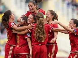 España Sub 17 femenino celebra un gol en el Europeo. MD