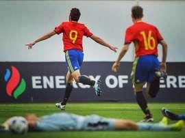 'La Rojita' Sub 17 venció a Portugal y sigue viva en el Europeo. Twitter/SeFutbol