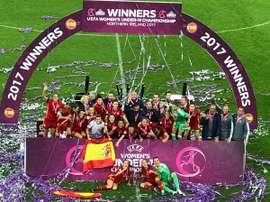 España salió victoriosa. UEFA