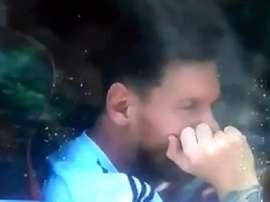 Messi, atterré par la terrible nouvelle. TyCSports