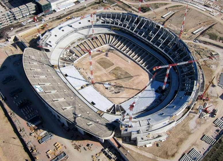 Estado de las obras del Estadio de la Peineta, futuro hogar del Atlético de Madrid, a 7 de marzo de 2016. ClubAtleticoDeMadrid