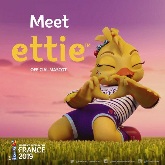 Ettie, la mascota del mundial femenil 2019 en Francia