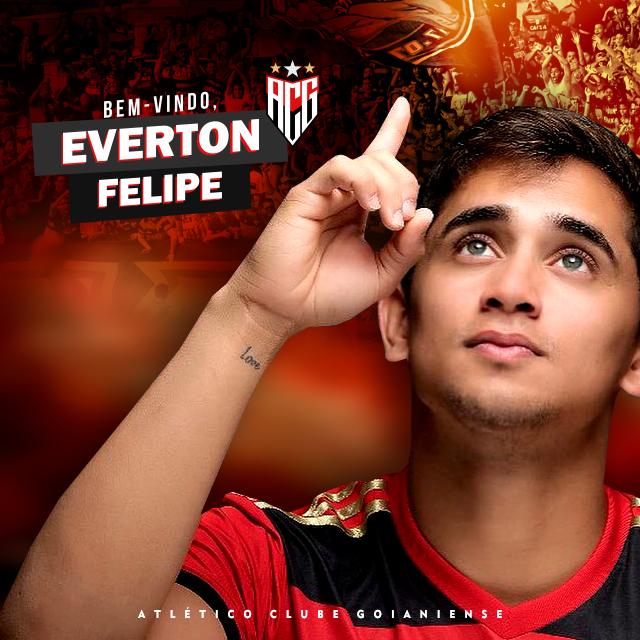 Everton Felipe, novo reforço do Atlético Goianiense. Sport Club do Recife