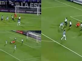 Everton sentó a dos defensas y puso el primero en Asunción. Captura/FOX