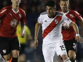 El Madrid quiere a Exequiel Palacios. EFE