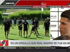 Exequiel Palacios podría llegar al Madrid. Captura/ESPN
