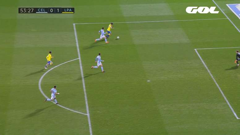 Expósito marcó el 0-1 para Las Palmas. Captura/GOL