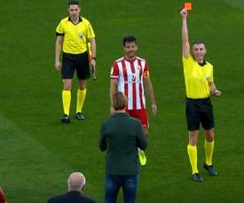 L'arbitre expulse Guti... après la coup de sifflet final. Capture/Movistar