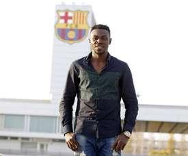 Bassey realizó el primer entreno con el Barça B. FCBarcelona