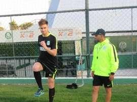 Rescaldani llegó a Atlético Nacional en verano. AtleticoNacional