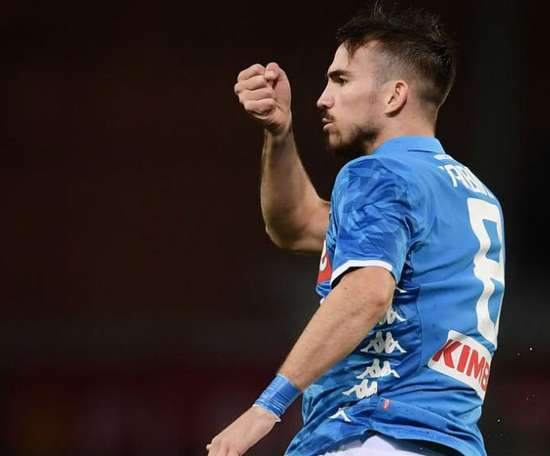 Fabían Ruiz tem proposta para prolongar vínculo com o Napoli. AFP