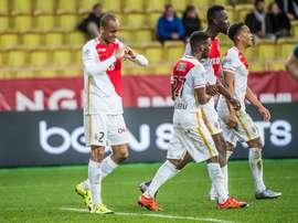 Fabinho celebra la consecución del primer y único tanto entre Mónaco y Saint Etienne. Twitter