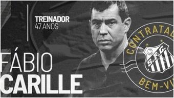 Fábio Carille será técnico de Santos hasta finales de 2022. Twitter/SantosFC