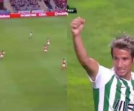 Fabio Coentrao Liga Portuguesa 2018-19. Captura/VSports