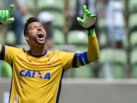 Fabio Deivson en un partido con el Cruzeiro. Twitter