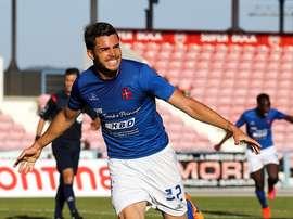 Fábio Nunes, celebrando un gol con el Os Belenenses. CFosBelenenses