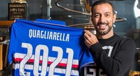 La Sampdoria renovó a su gran goleador. Twitter/sampdoria