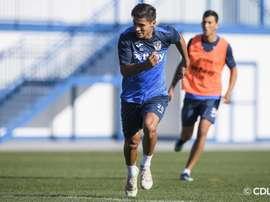 El joven argentino llegó al Leganés este mismo verano. Twitter/CDLeganes